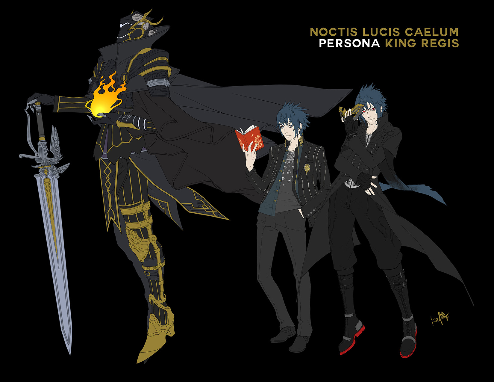 Artstation Final Fantasy Xv X Persona 5 Crossover Character