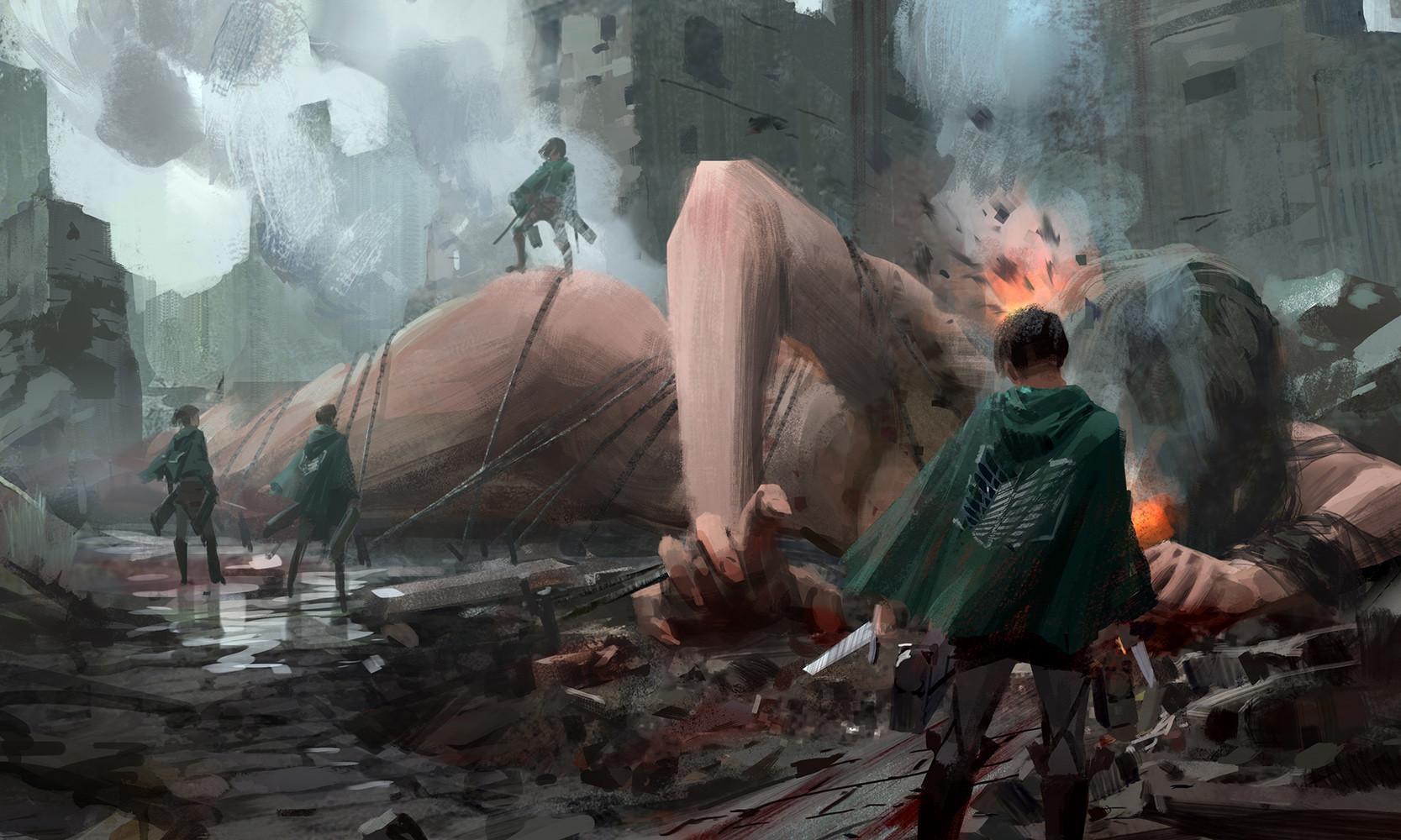 ArtStation - fan art of Attack on Titan, Way Way