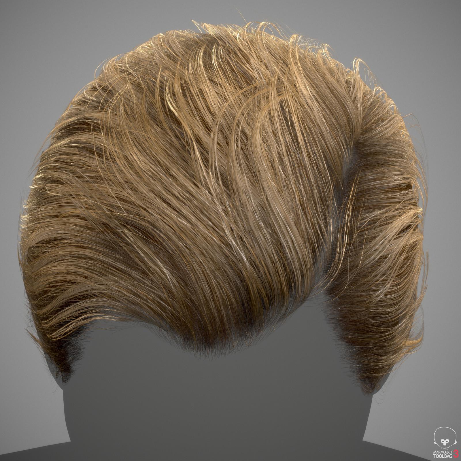 artstation realtime hair example adam skutt