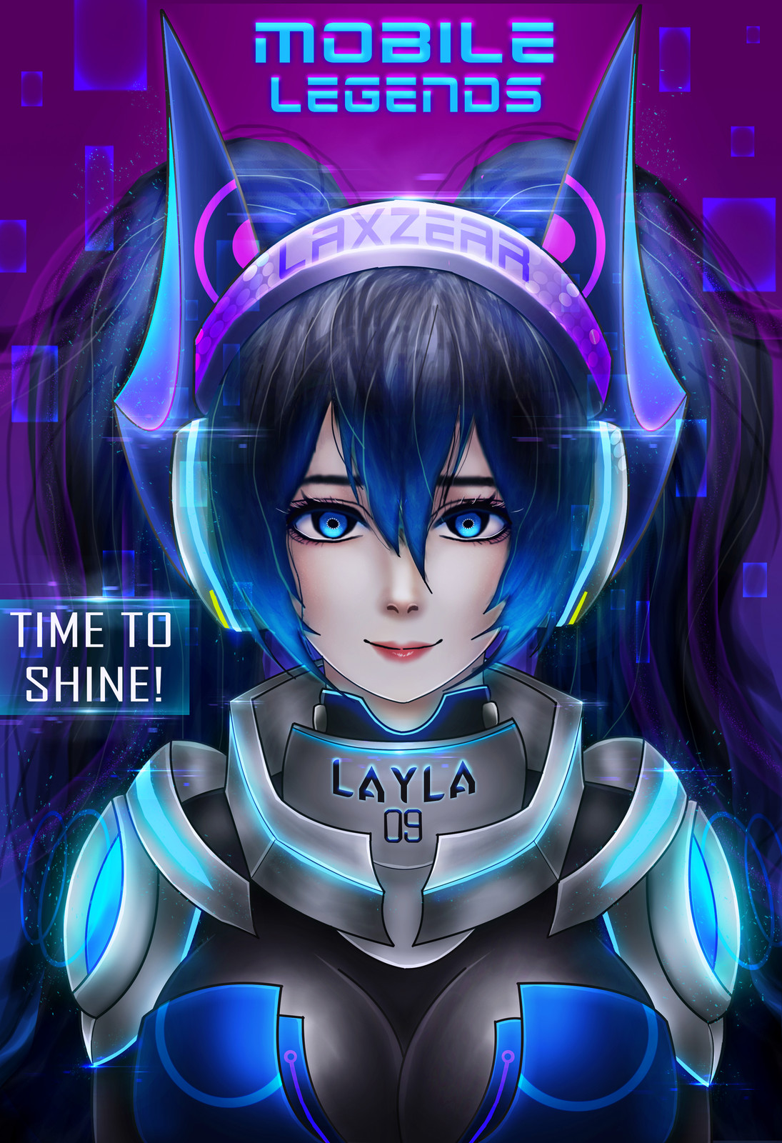ArtStation Layla Mobile Legends Laxzear Zloxian