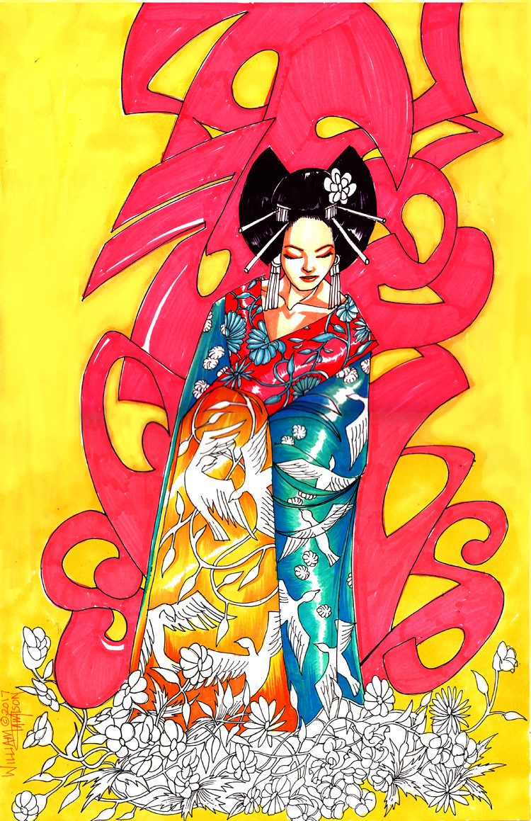 Afromation art urban geisha