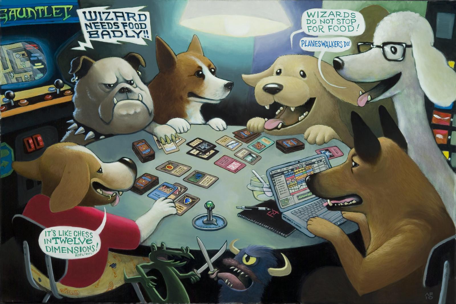 Dogs Playing Magic