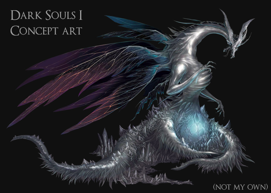 For the existing game Dark Souls, this is the concept I have based my fan art from.