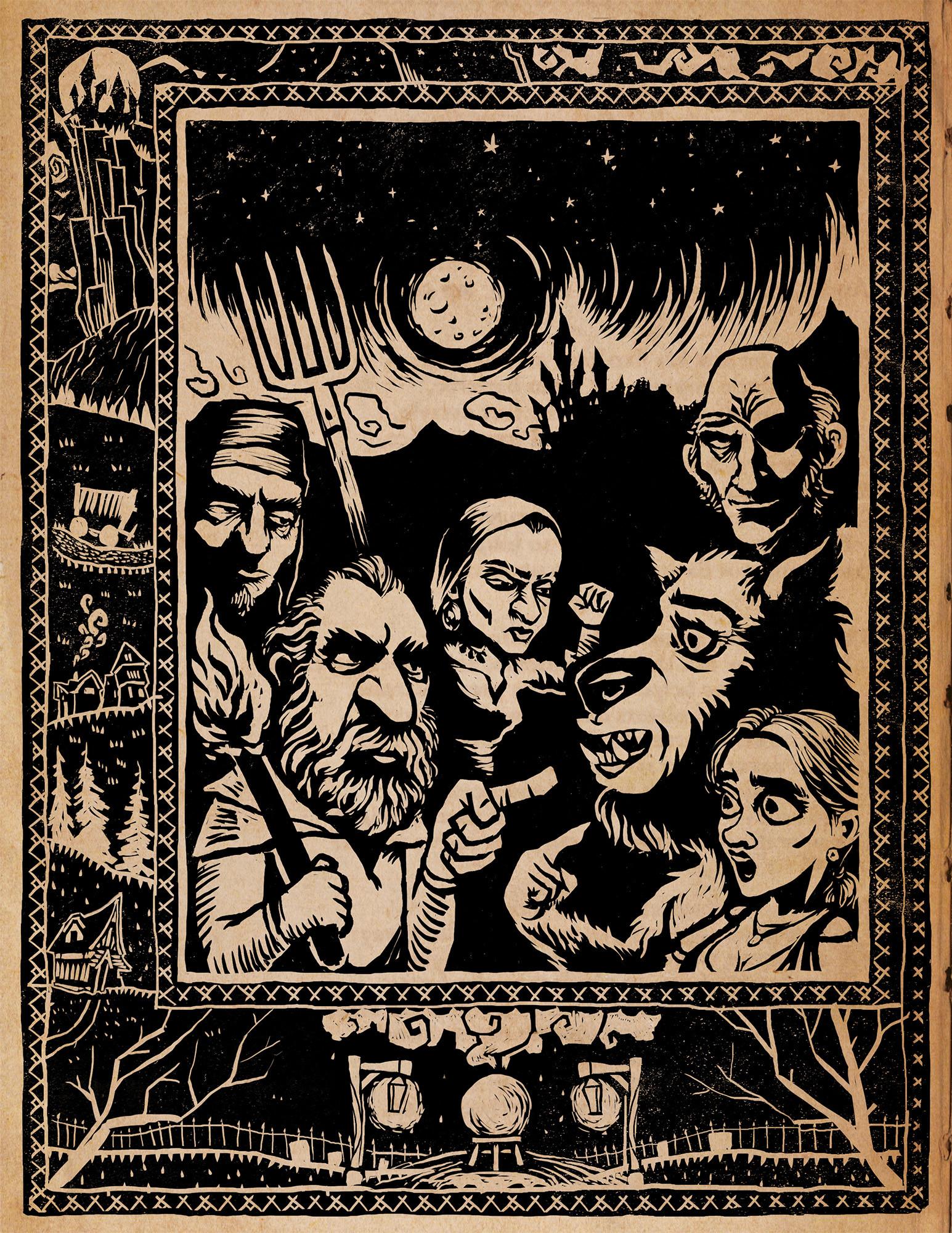 Illustration for Menu - border art by Sebastien Lienard