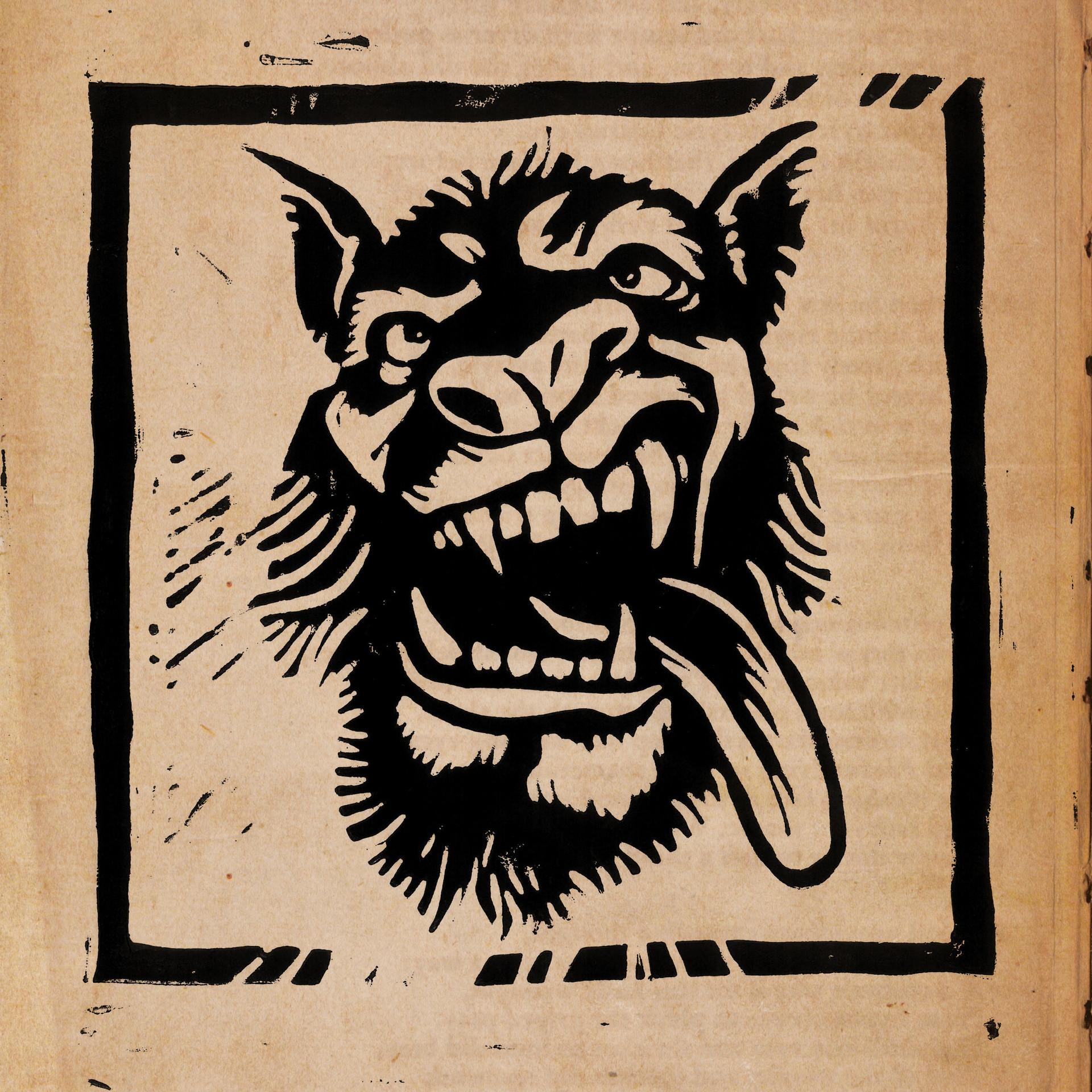 Block Print - Wolf Character Design by Amadeu Aldavert