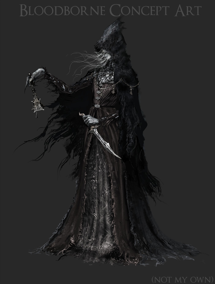 Concept art for Bloodborne the character is based from.