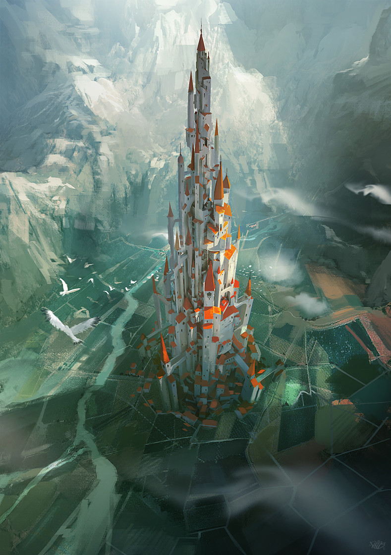 renaud-perochon-birdview-medieval-tower0