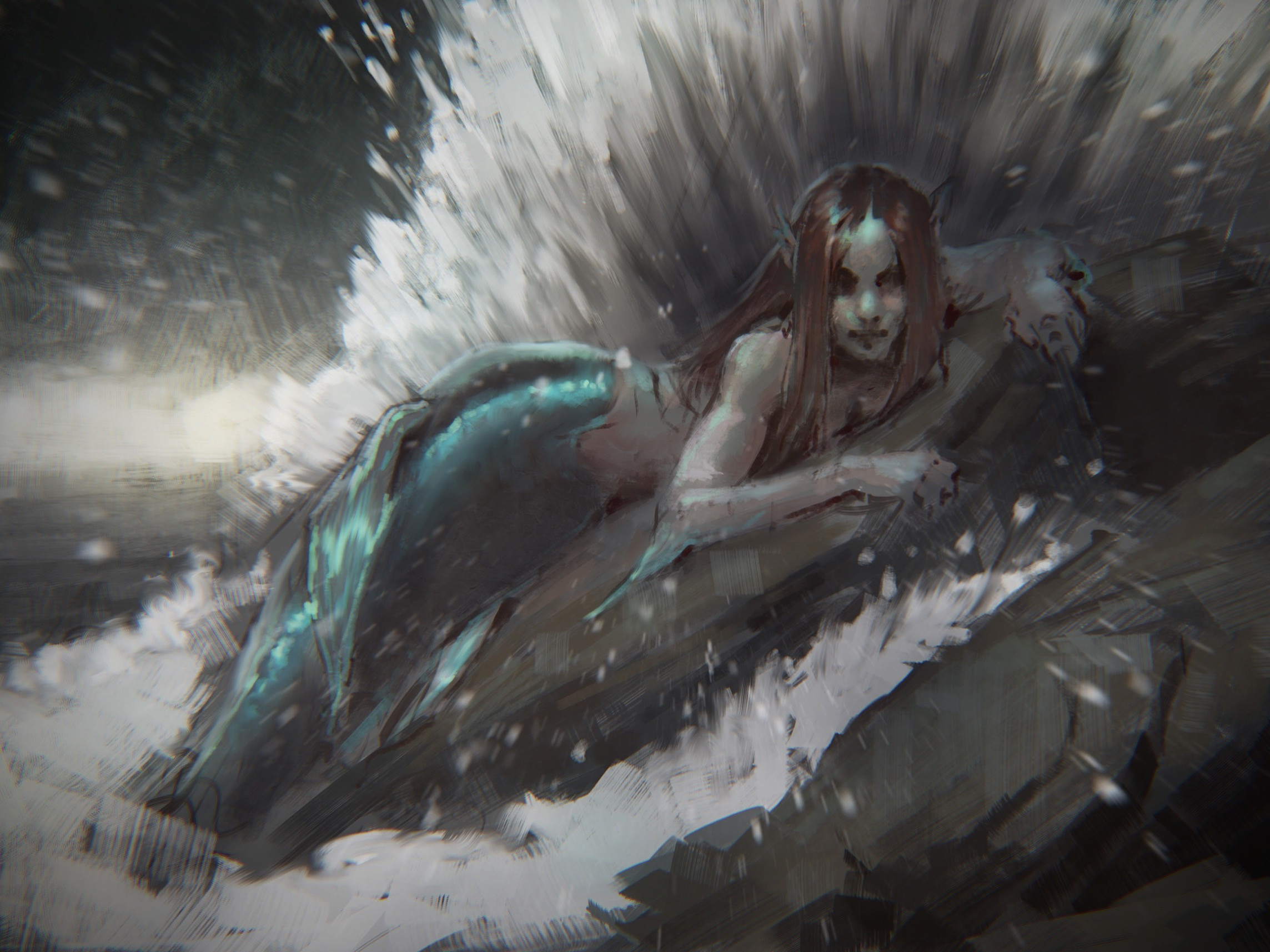 MerMay Photoshop sketch.