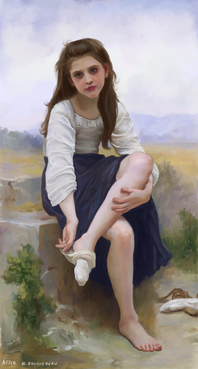 Master study after William-Adolphe Bouguereau