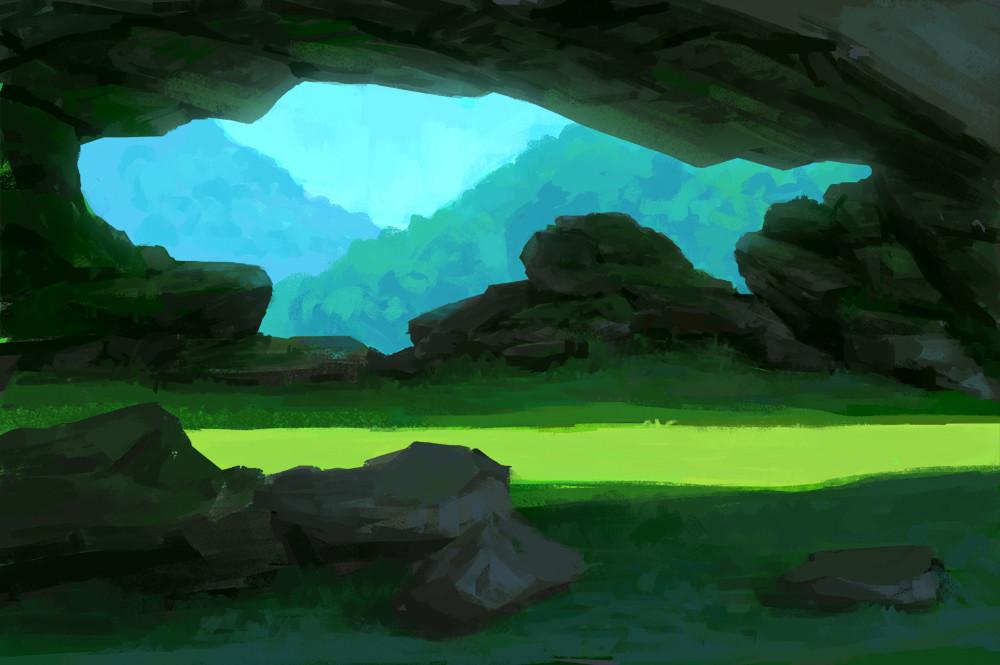 Sea creature cave