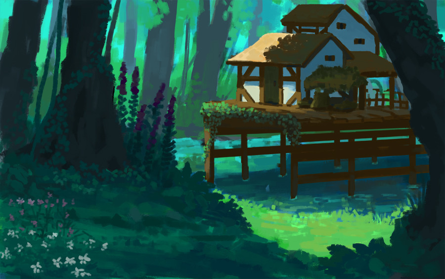 Forest hut sketch