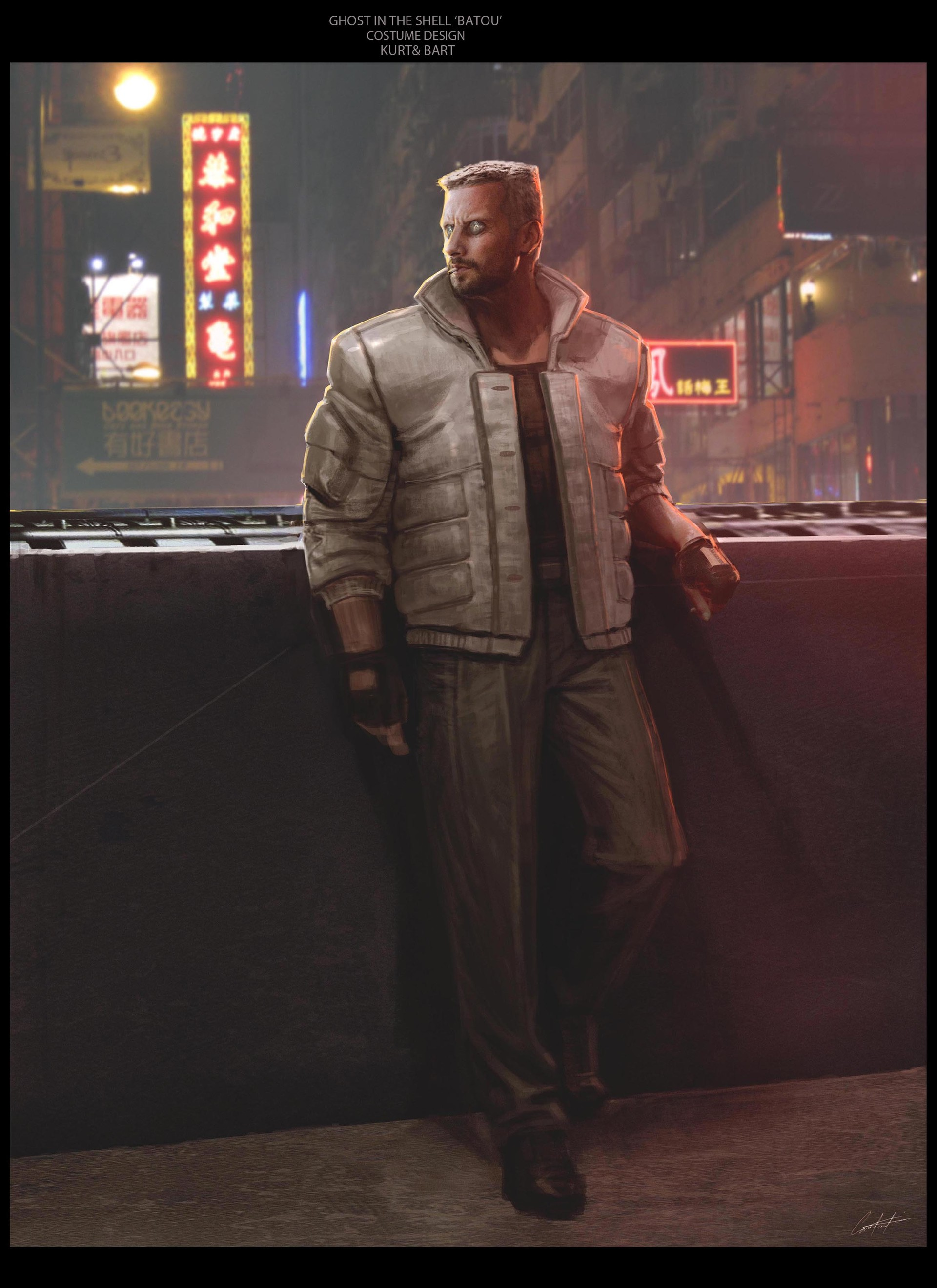 Artstation Ghost In The Shell Batou Constantine Sekeris