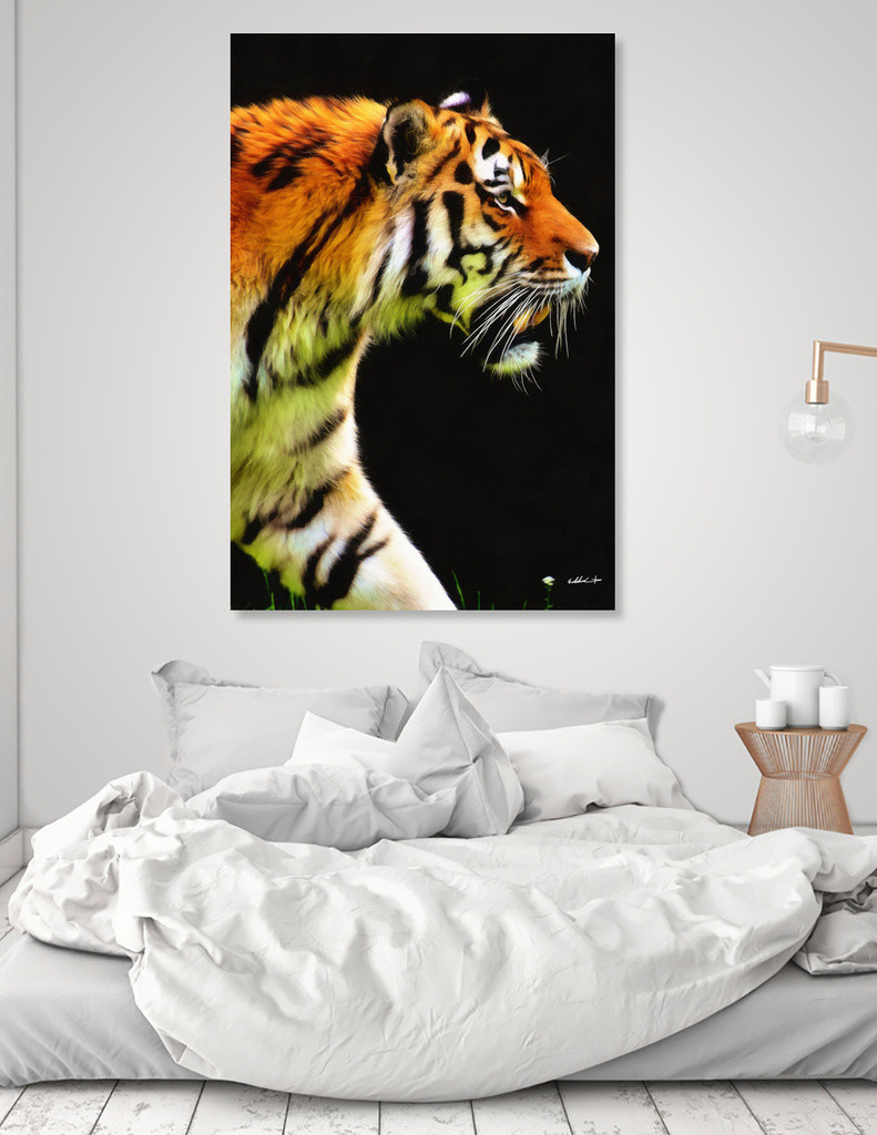 Eddie christian ed tiger canvas bed