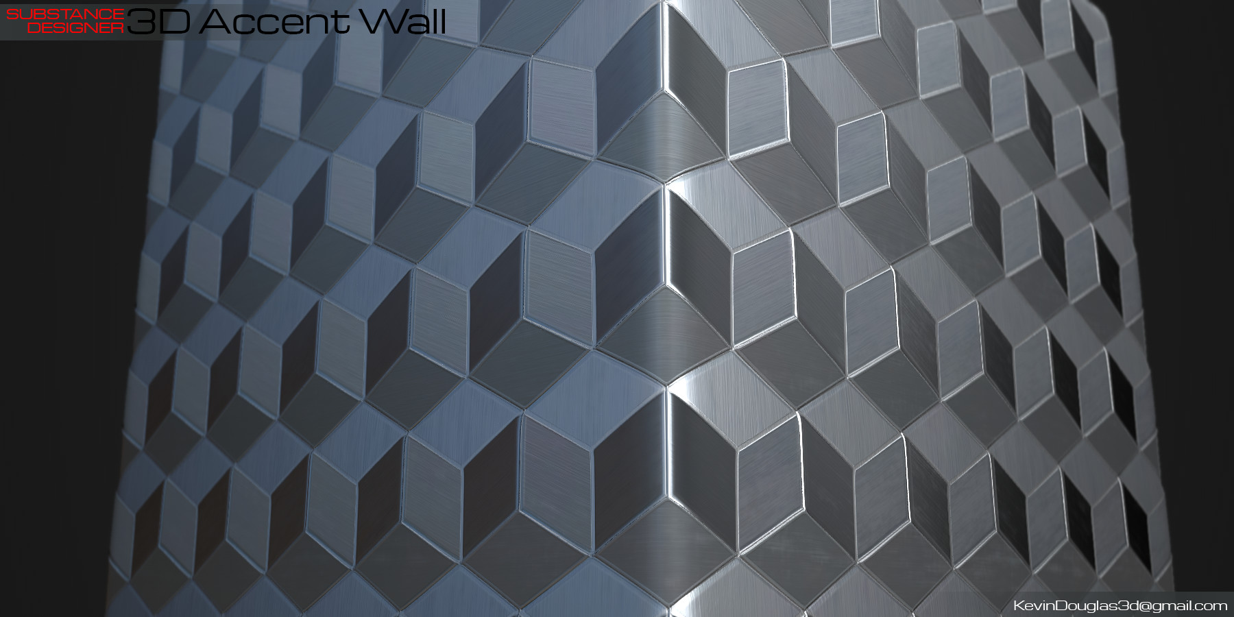 Kevin douglas accent wall 3dcubes beauty light 01
