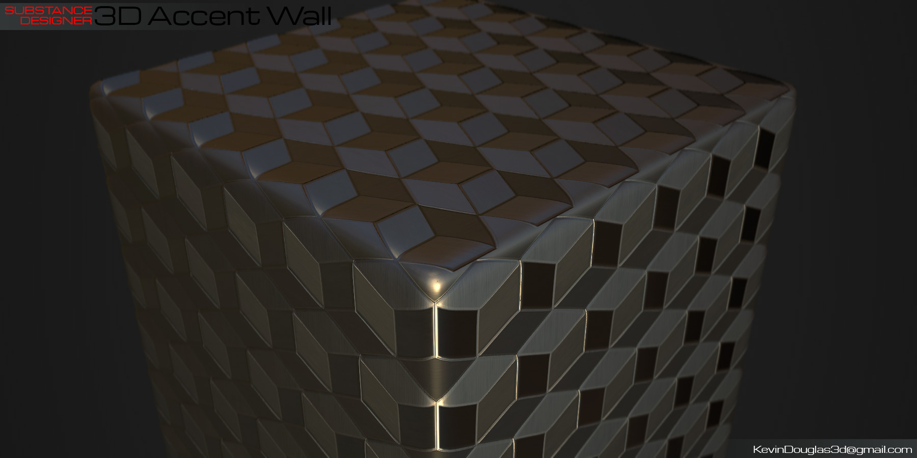 Kevin douglas accent wall 3dcubes beauty anglegold