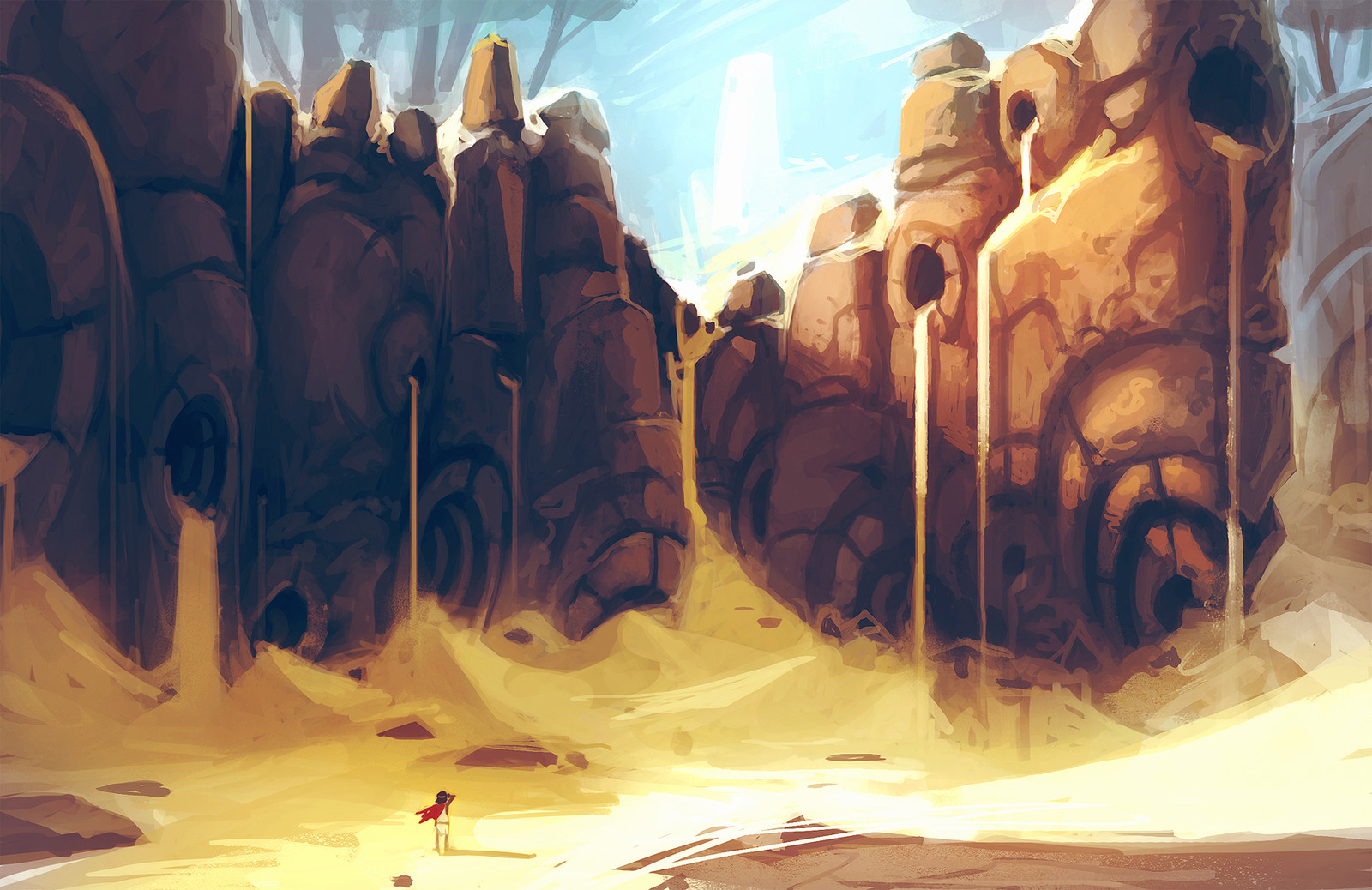 Sand Waterfalls