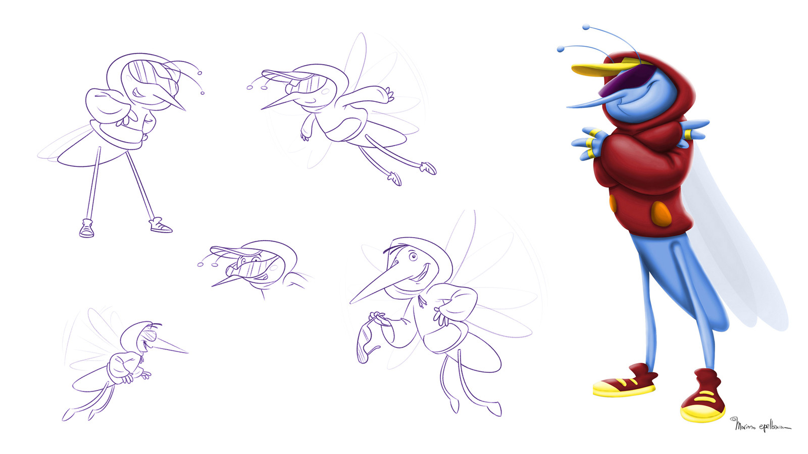 Character design for 3D animation.