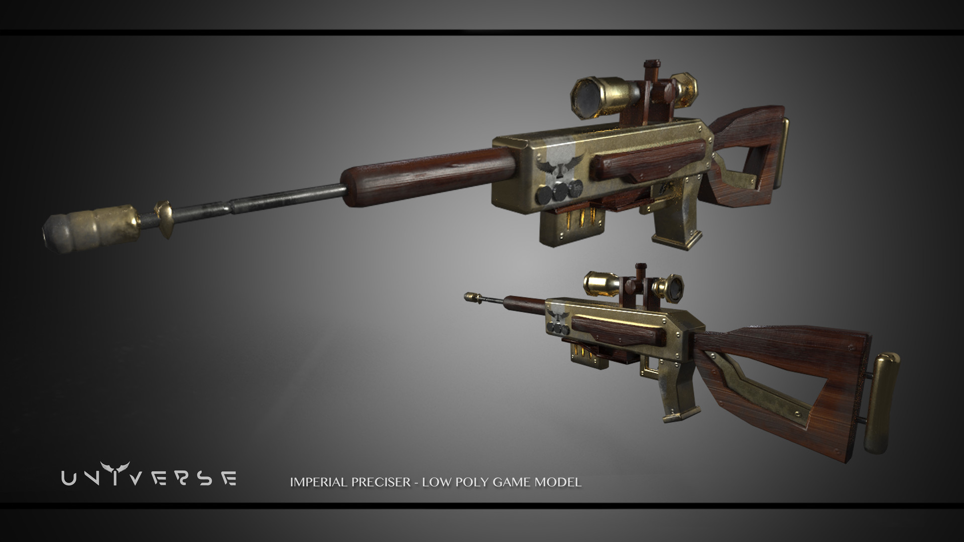 ArtStation ConceptArt Guns low poly
