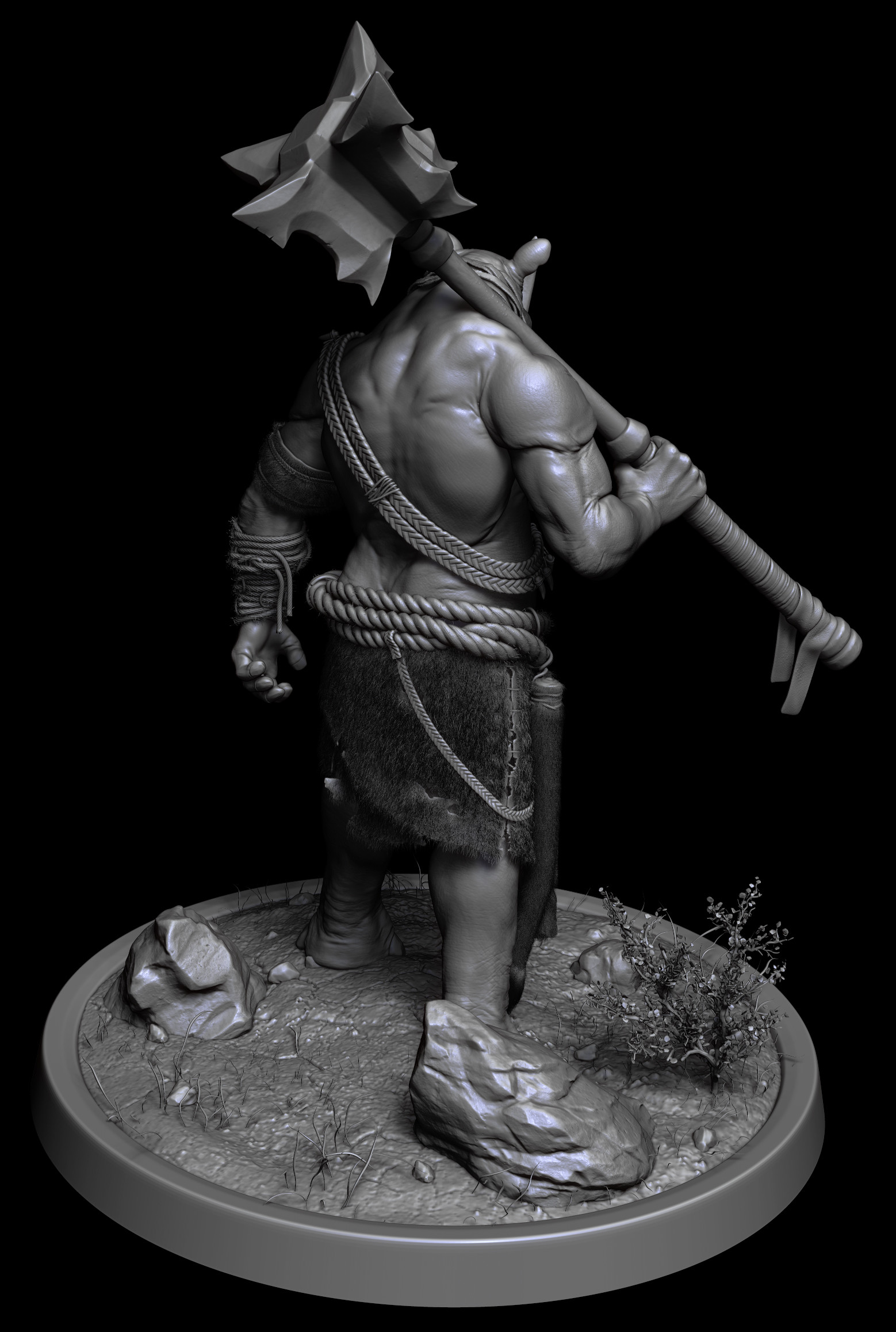 Omar chaouch zbrush render back