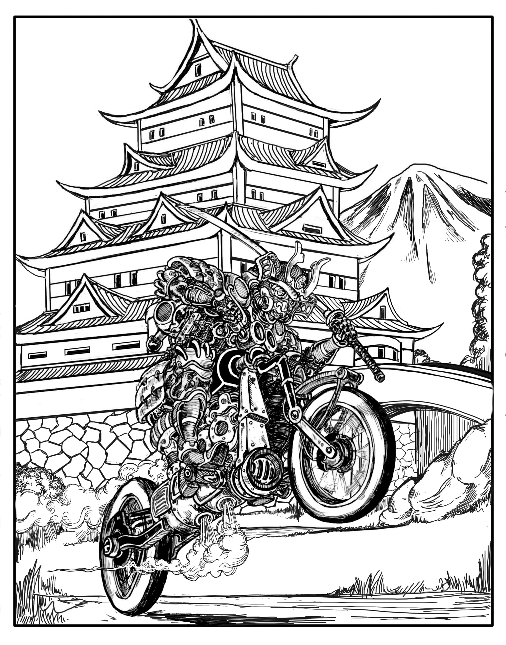 Background added in using Sketchbook Pro
