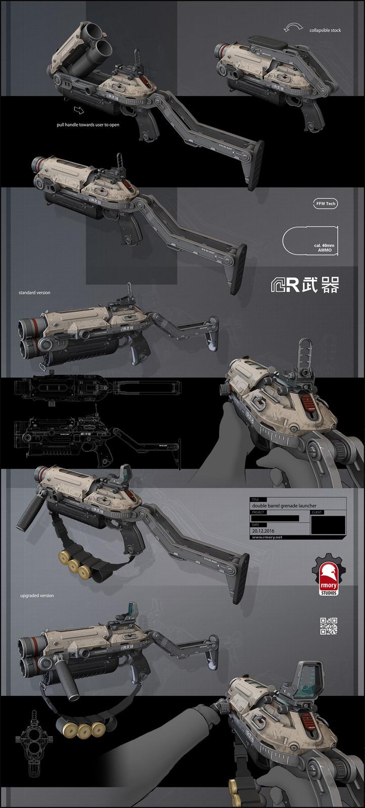 Double Barrel Grenade Launcher by rmory studios
