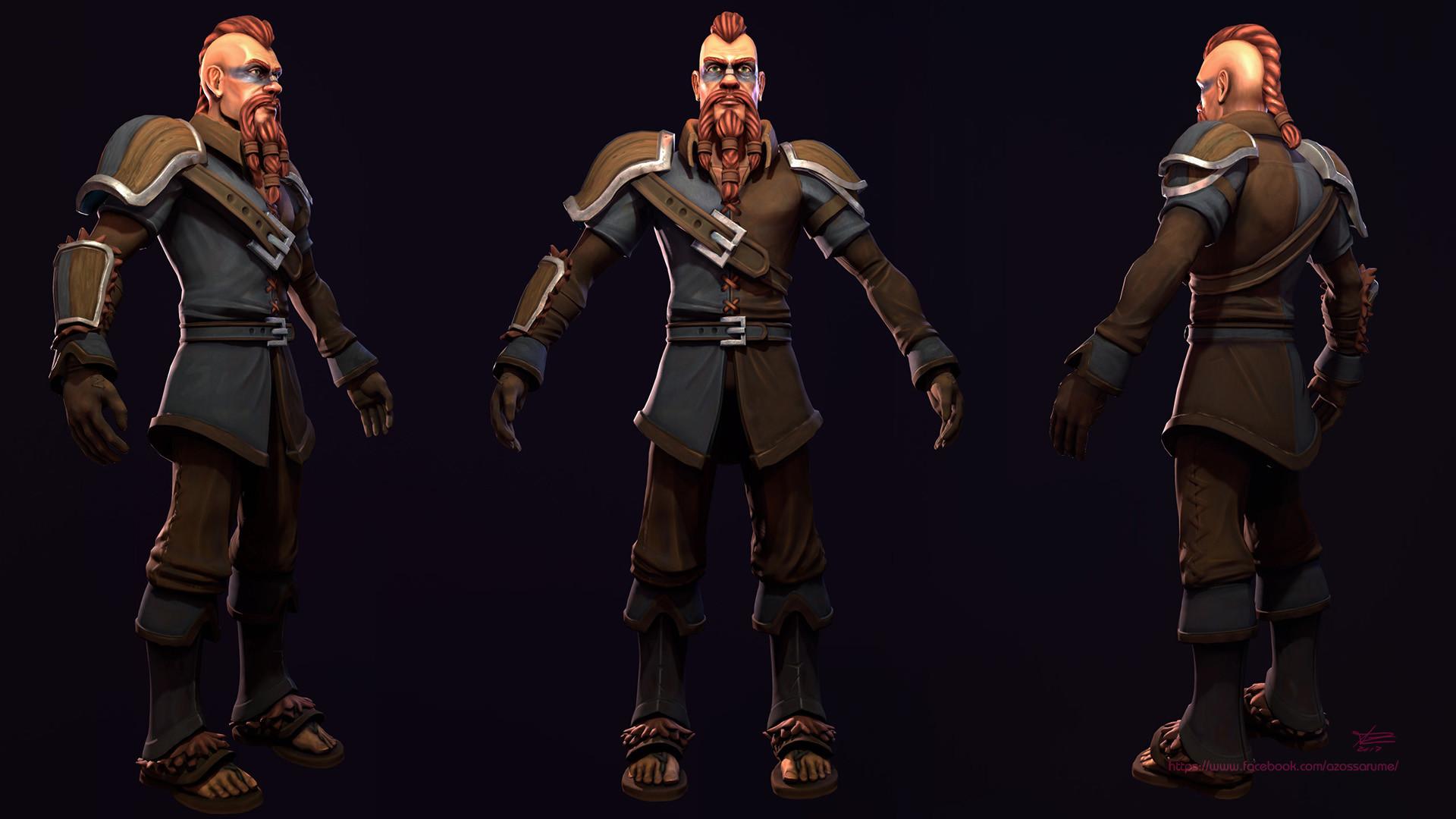 Azoss Arume - Viking - Game Ready - Stylized Character