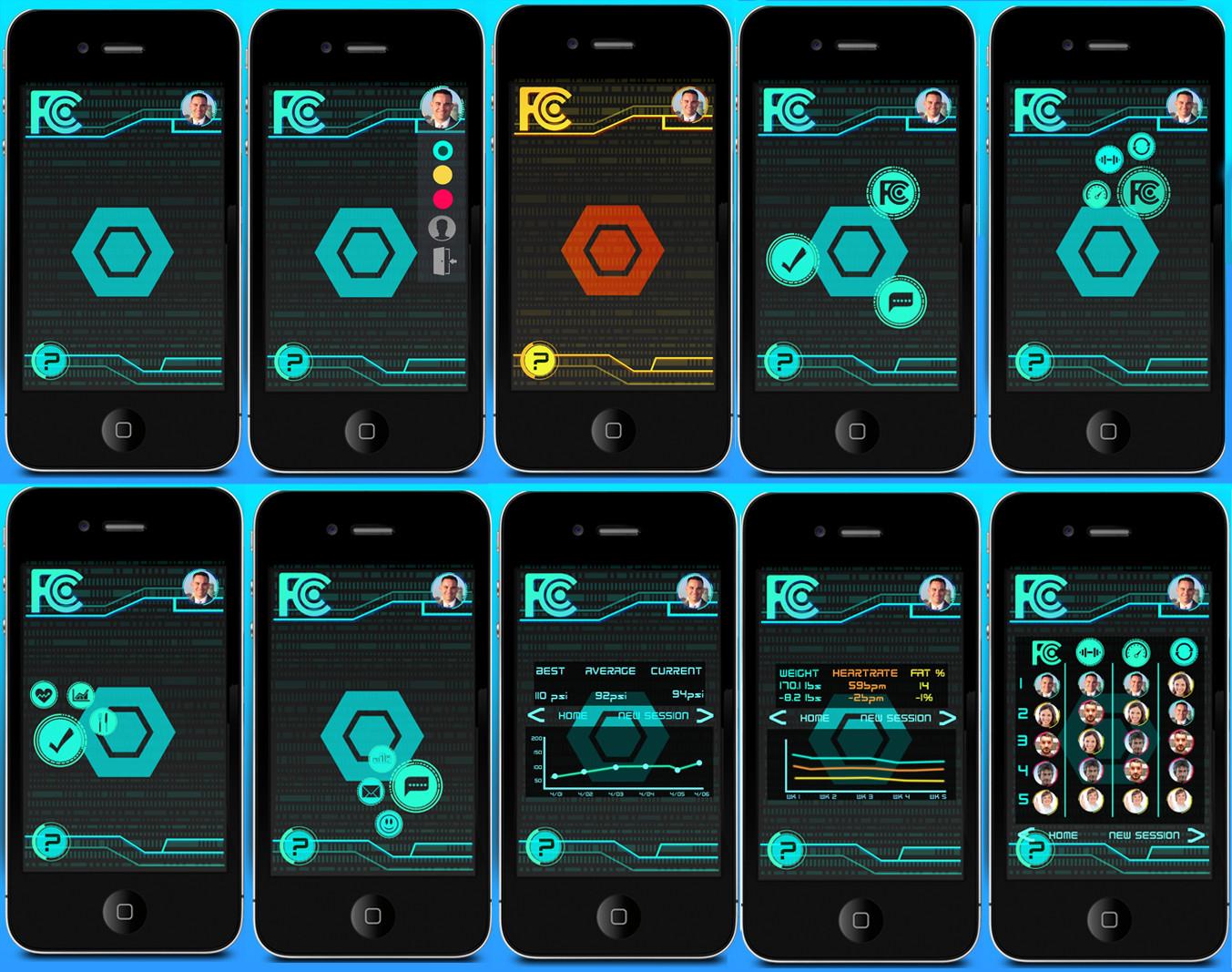App interface- Futuristic yet user friendly interface.