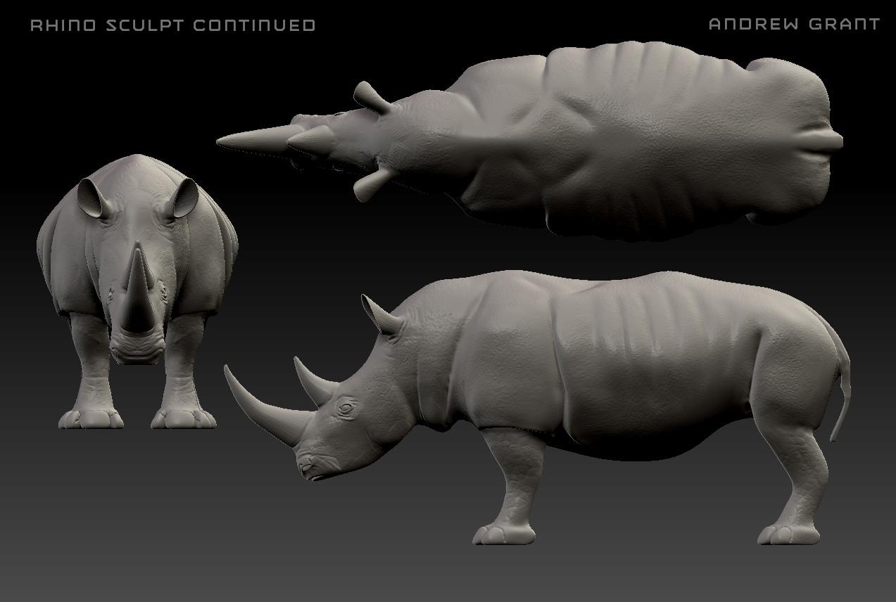 Zbrush Sculpt of a Rhino