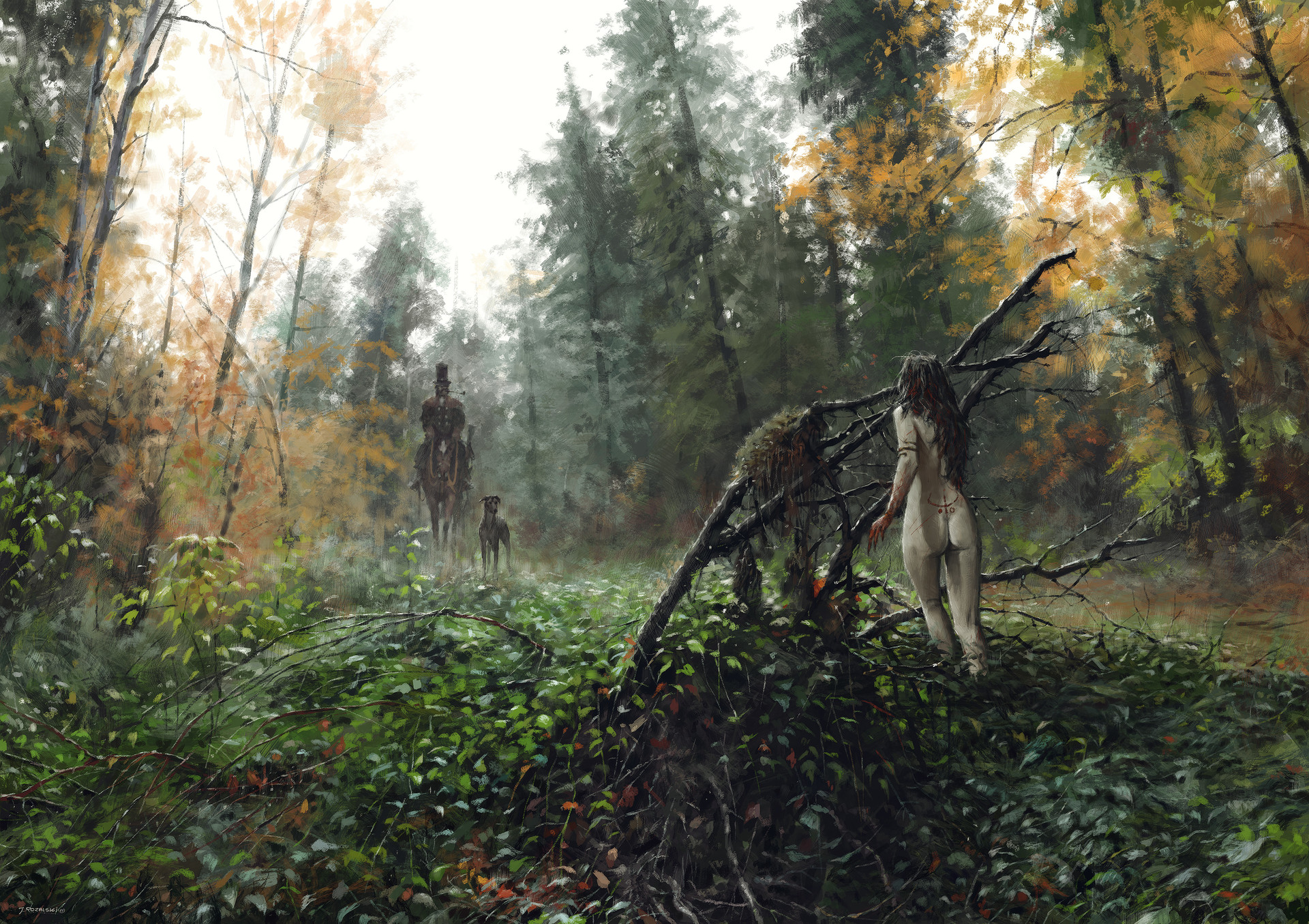 Jakub rozalski morning hunts