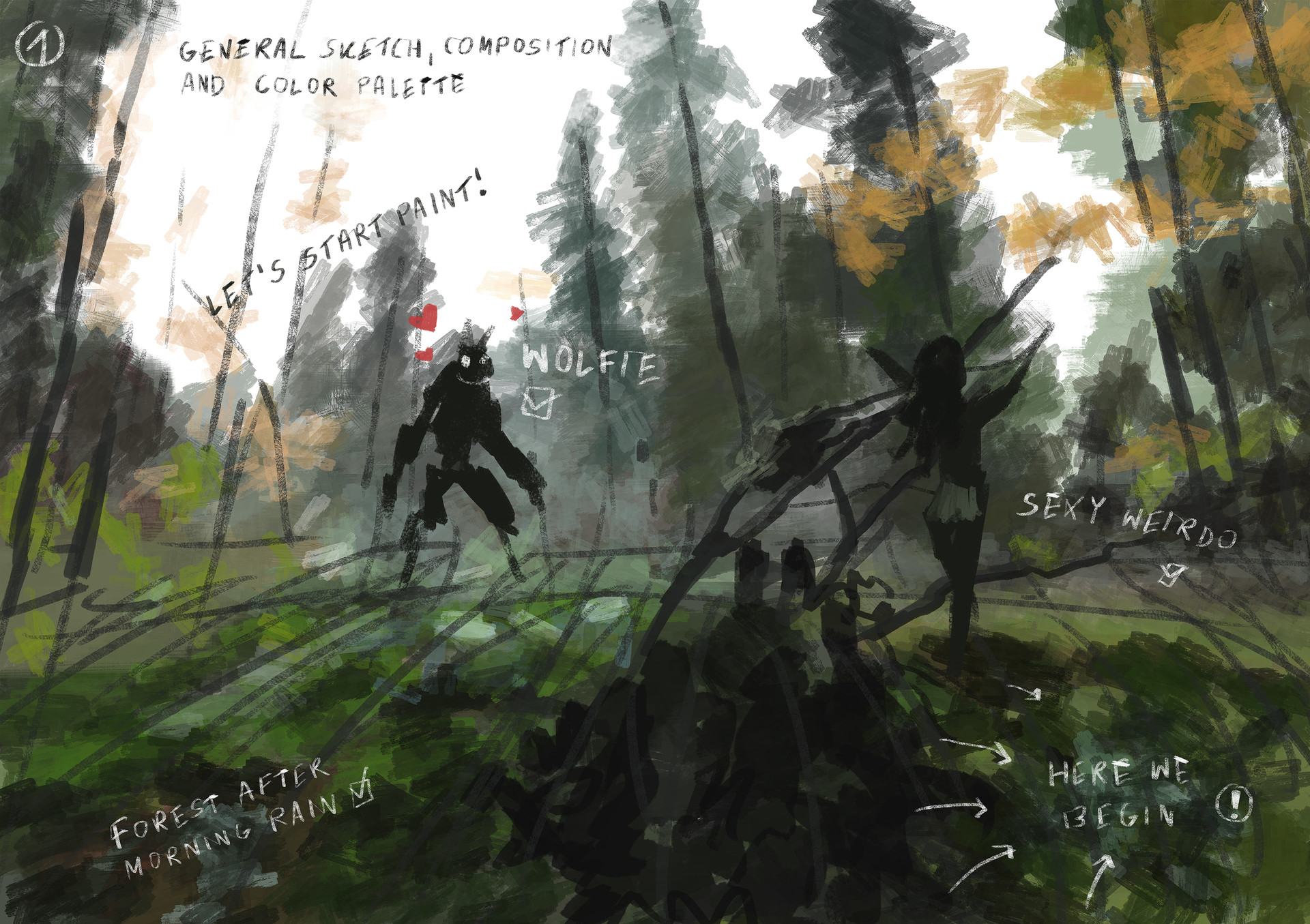 Jakub rozalski morning hunt process01