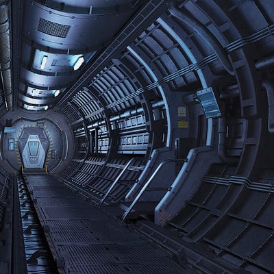 Eduard pronin space station interior