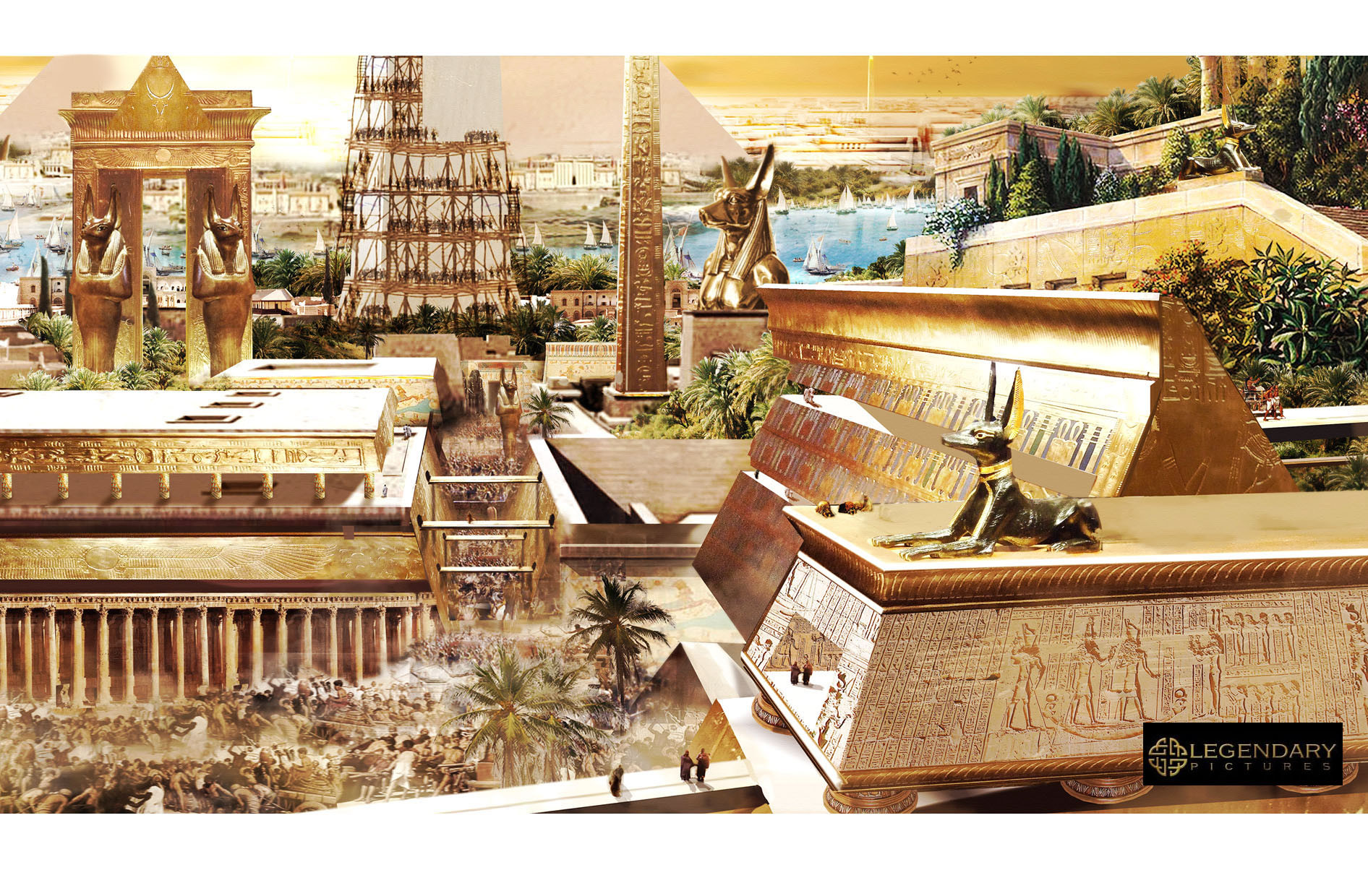 Large scene setting image from the movie Gods of Egypt.