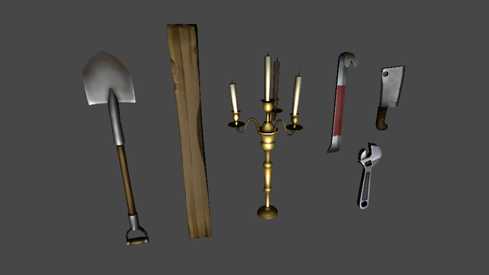 Low poly weapon models created with Zbrush, 3DS Max and Photoshop.