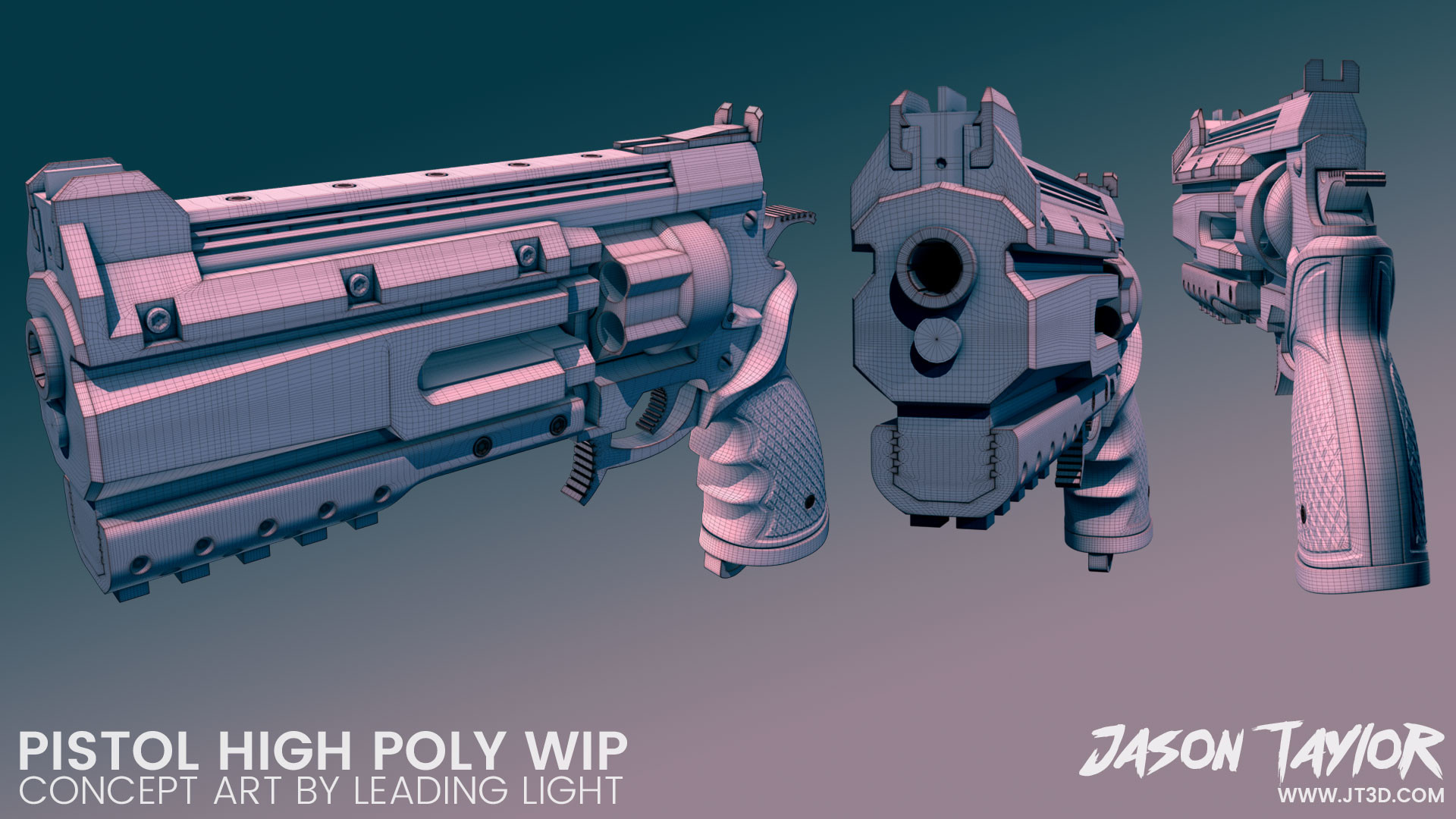 High poly work in progress.  Concept art by Leading Light.