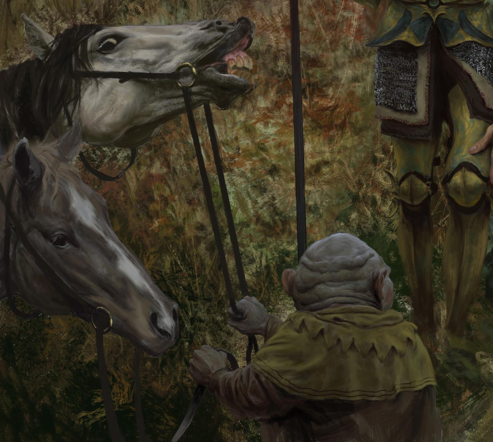 Mobin boy and horsies