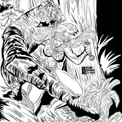 Brian robinson jungle woman 6 3 2017 tigerattack loweres