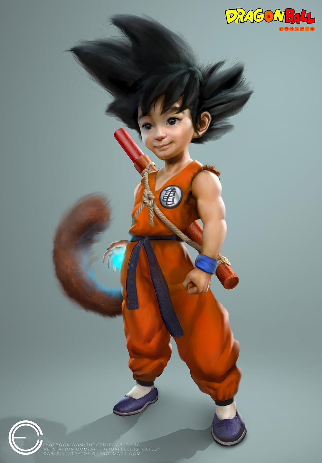 Artstation Kid Goku Carl Ellis