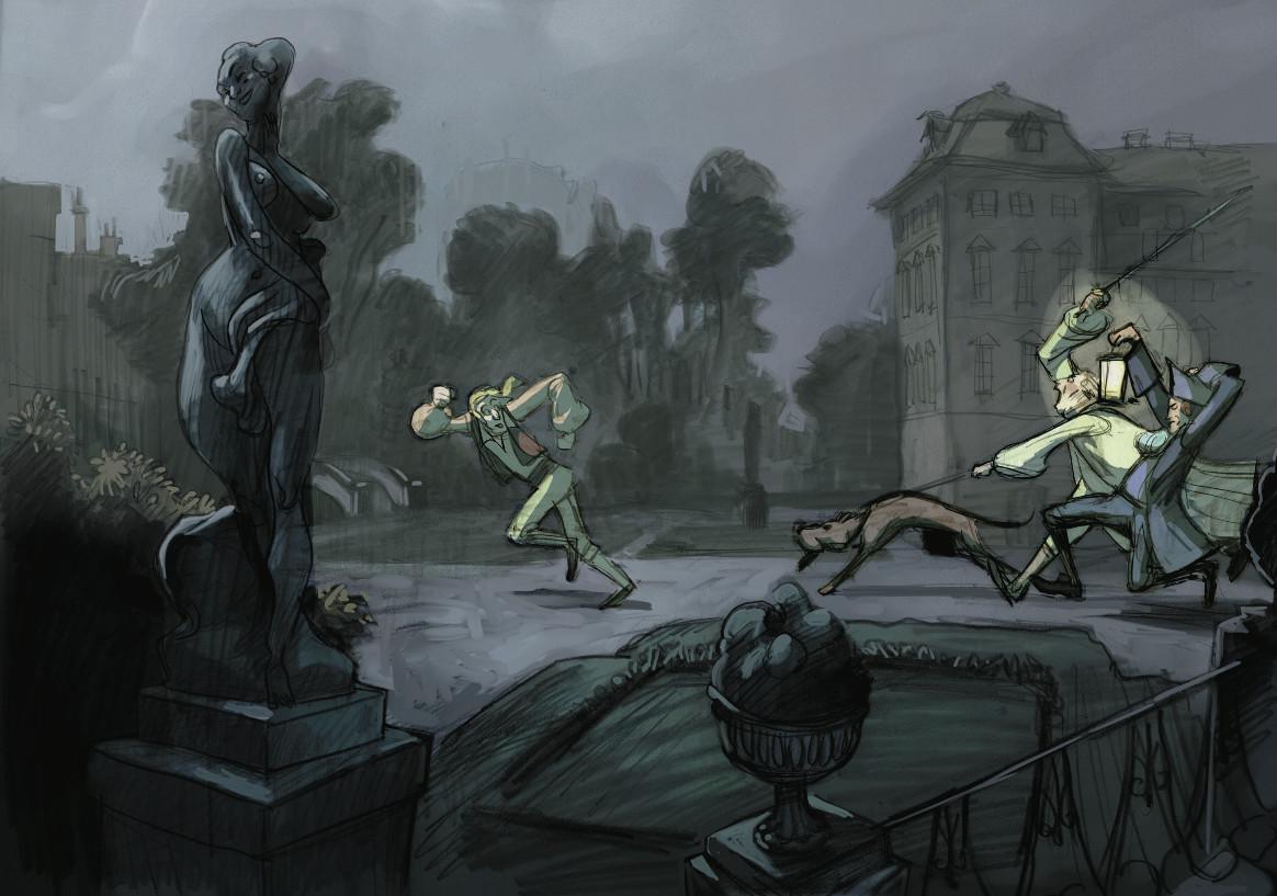 Célestin Gobe-la-lune - concept art