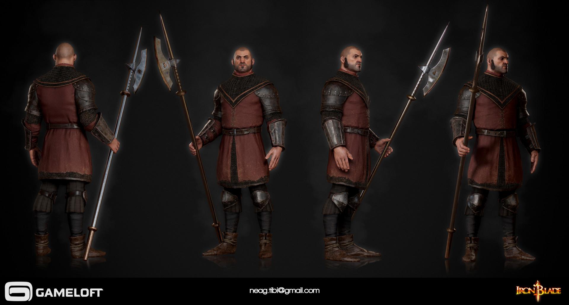 Tibi neag tibi neag iron blade garrison soldier a low poly