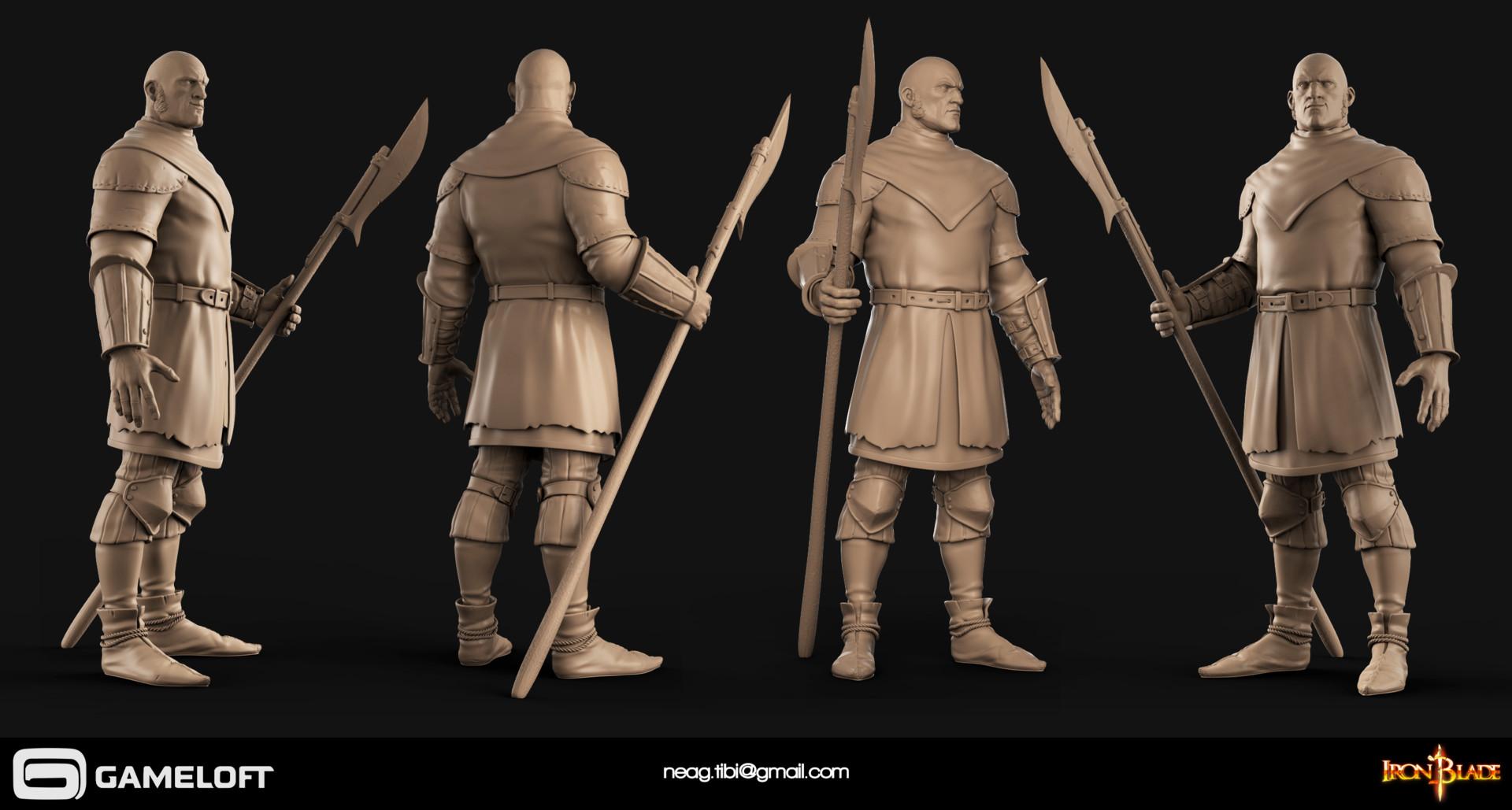 Tibi neag tibi neag iron blade garrison soldier a high poly
