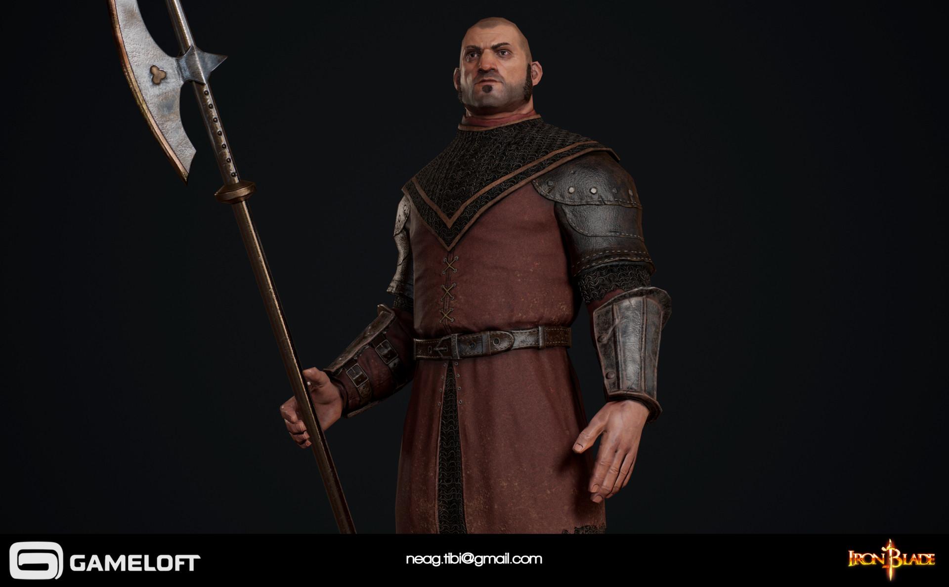 Tibi neag tibi neag iron blade garrison soldier a low poly 01