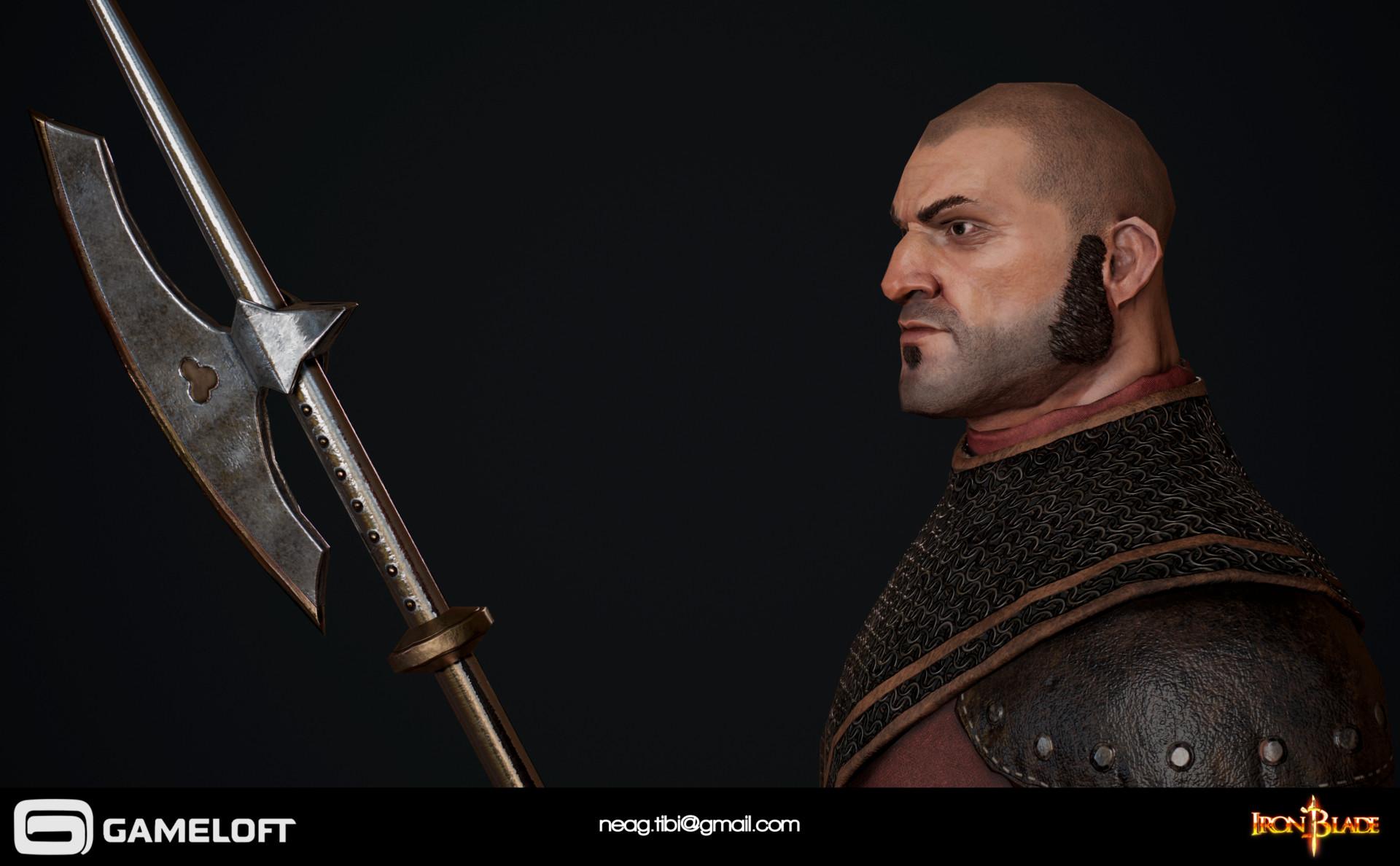 Tibi neag tibi neag iron blade garrison soldier a low poly 02
