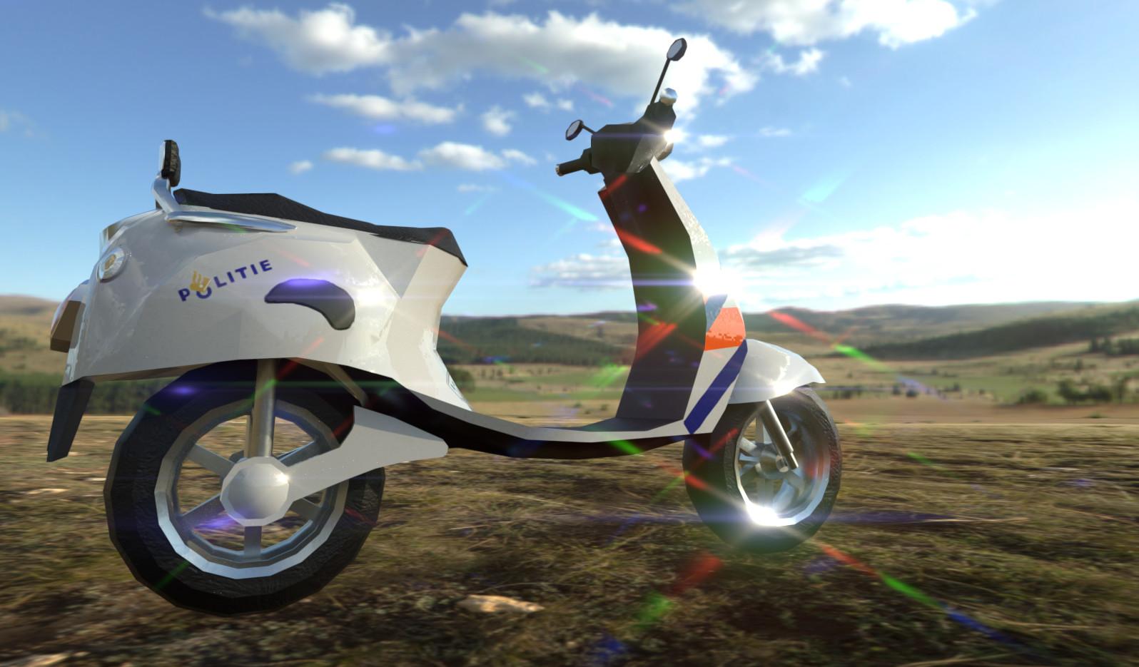 ArtStation - Police scooter, Thijs de Haas