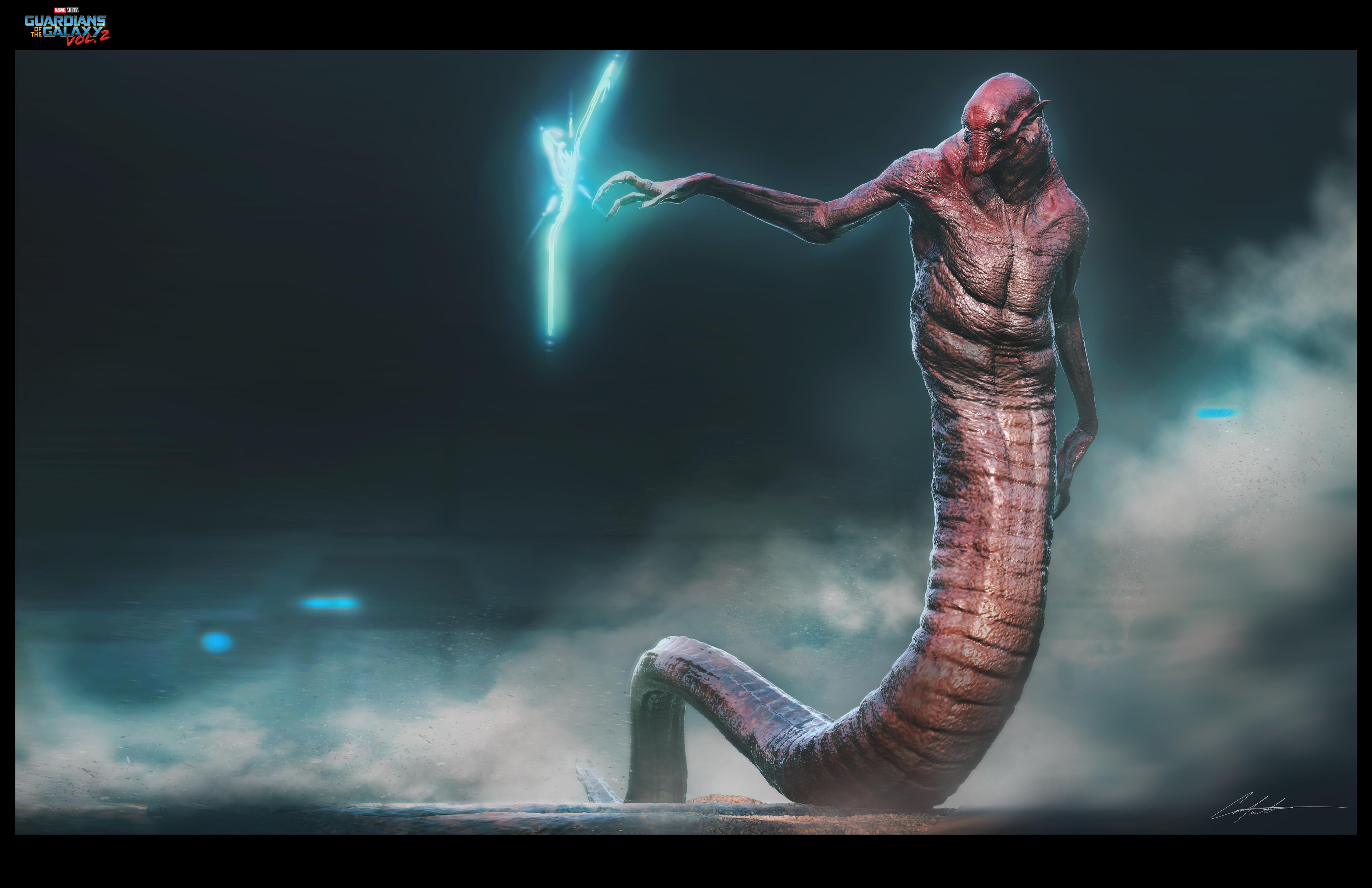 Krugar creature design for Guardians of the galaxy vol.2