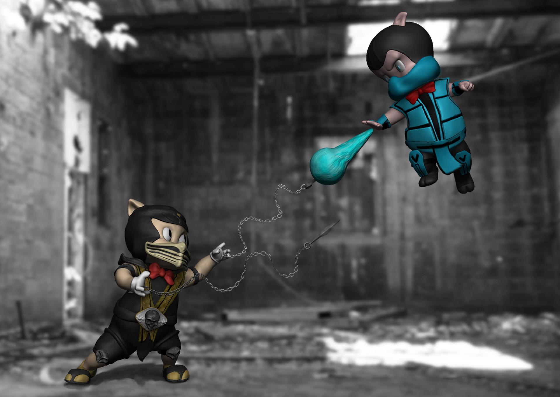 Terressa Cook 3D Animator| 3D Artist - Porky Pig/Scorpion vs