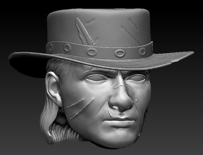 Brandon Moore Red Dead Redemption John Marston Head Wip