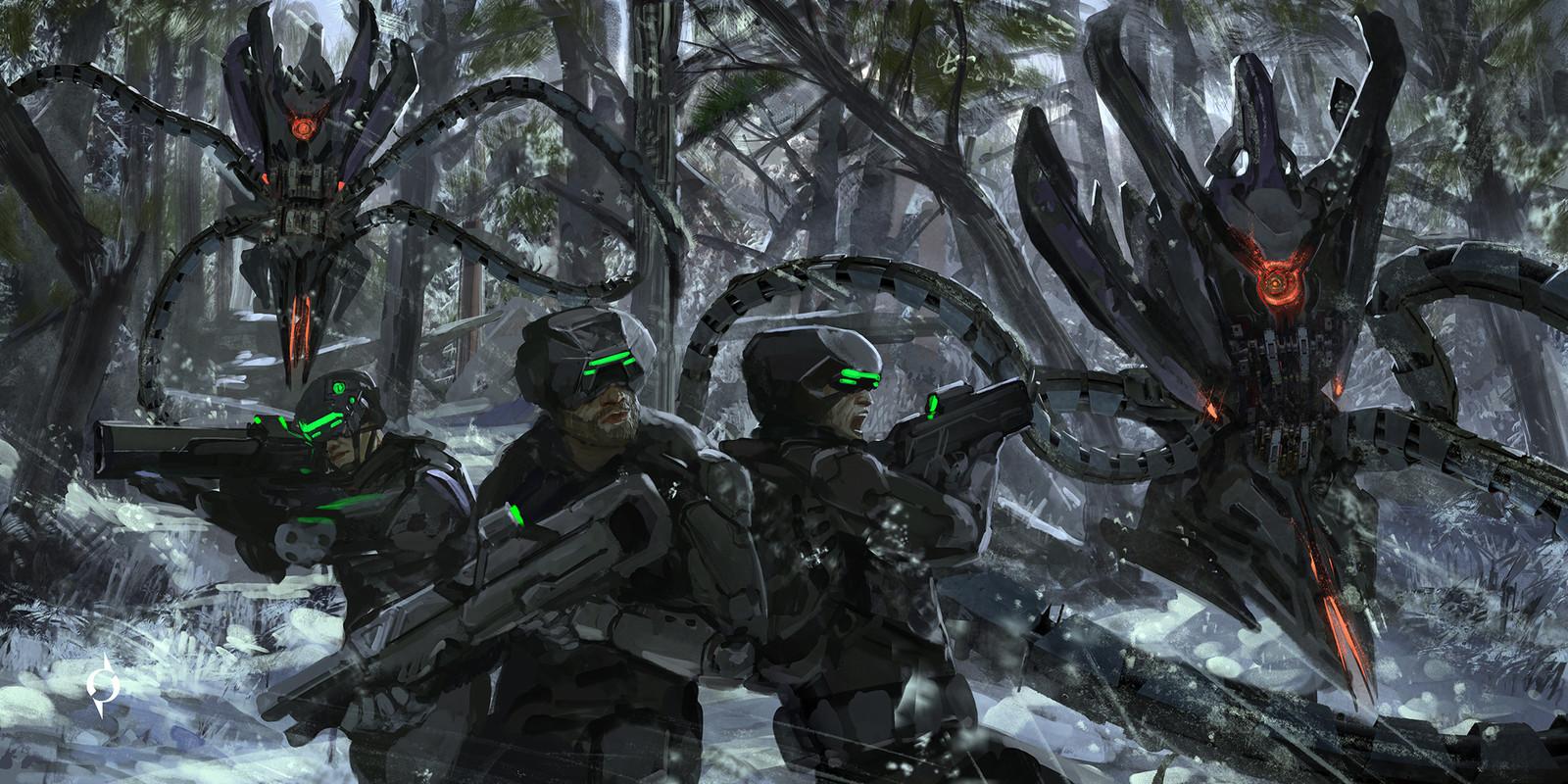 Hunter being hunted