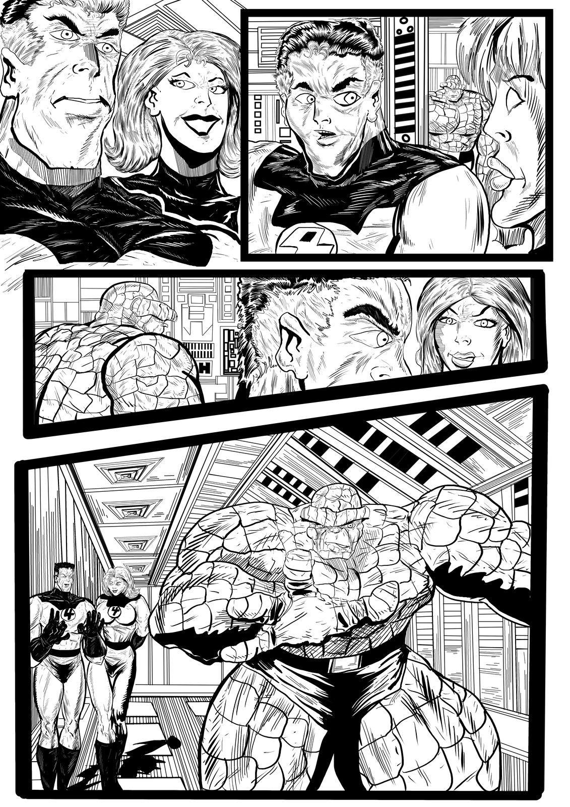 Fantastic Four Sequential Sample artwork page 2 by Brian Robinson