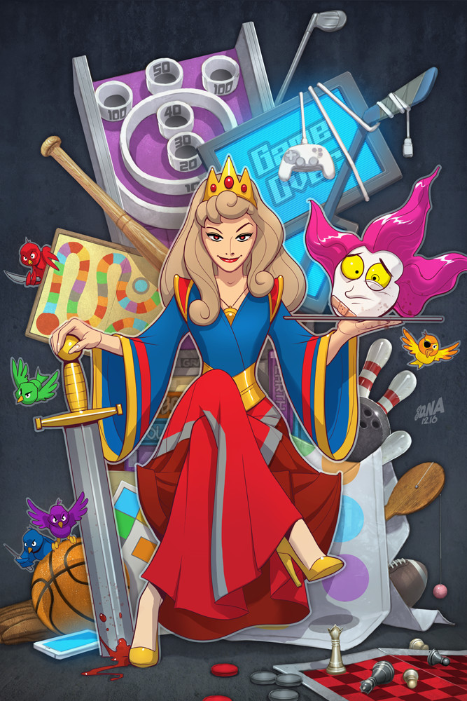 Issue 5 cover. Disney princess/Game of Thrones parody.
