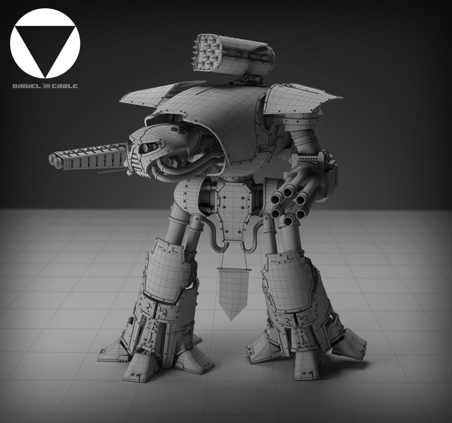 ArtStation - Warhammer 40K Reaver Titan, Dan Cable